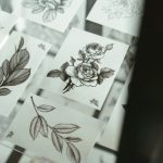 Hand drawn aari / maggam work printable designs for back neck and sleeves