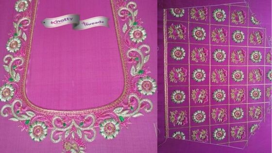Maggam Work or Aari Work Blouse Designs