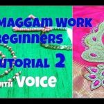 How to add beads in Aari or Maggam Work